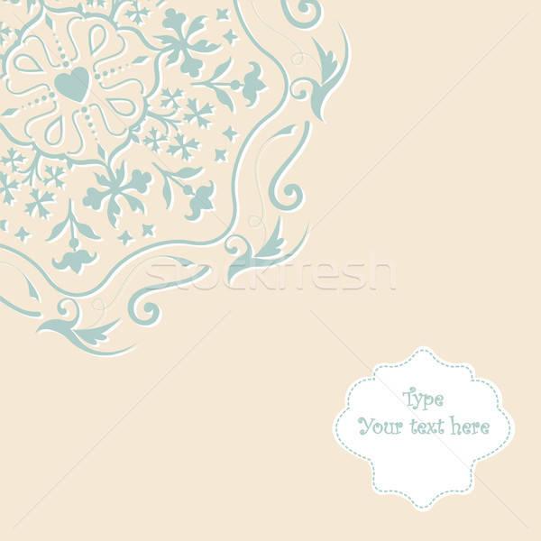 Pastel kant ornament vector afbeelding Stockfoto © alevtina