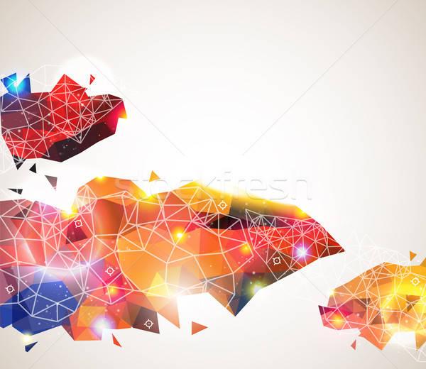 Kolorowy geometryczny wzór streszczenie strona układ Zdjęcia stock © alevtina