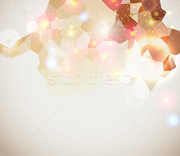 Lumineuses page layout présentation résumé Photo stock © alevtina