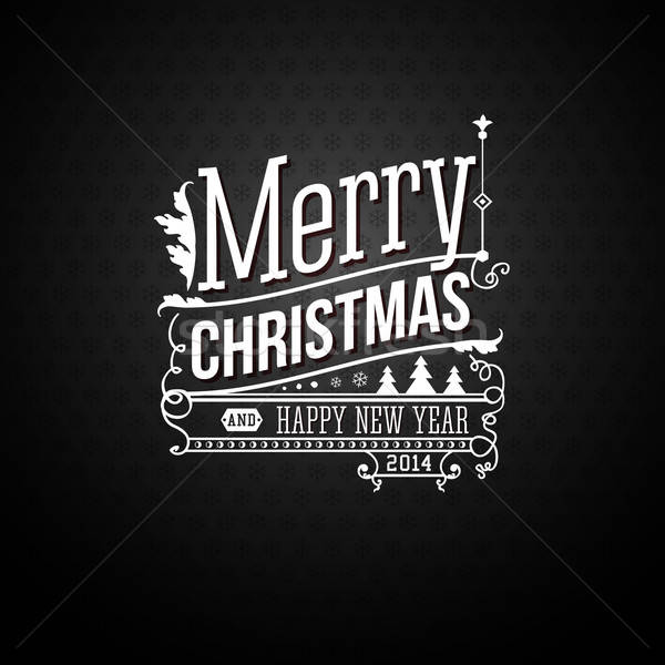 Christmas greeting card. Merry Christmas lettering in vintage st Stock photo © alevtina