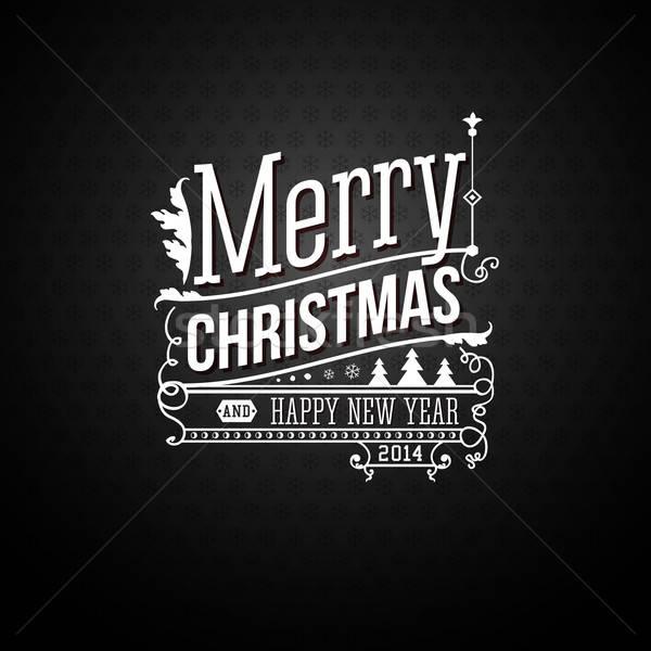 Karácsony üdvözlőlap vidám klasszikus stílus boldog Stock fotó © alevtina