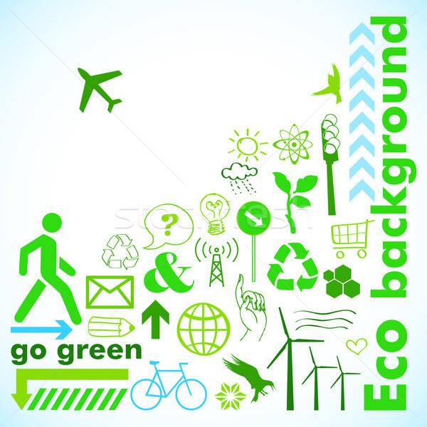 Go green card Stock photo © alevtina