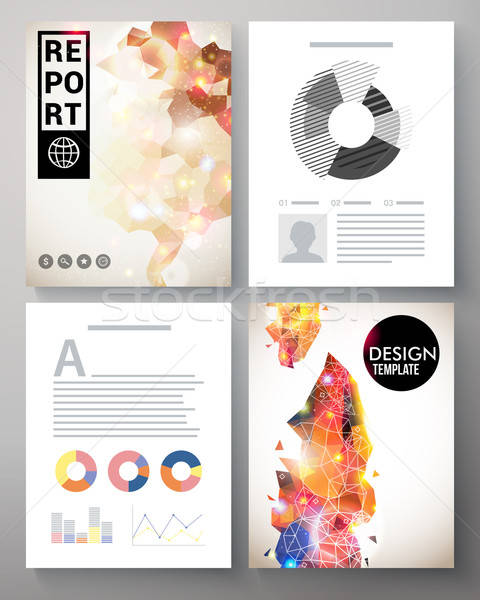 Creative modern template for an corporate report Stock photo © alevtina