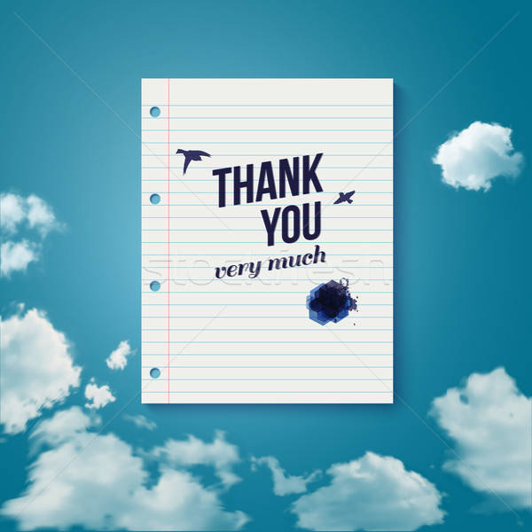 Сток-фото: спасибо · карт · различный · небе · вектора
