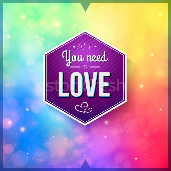 ロマンチックな カード ソフト ベクトル 画像 ストックフォト © alevtina