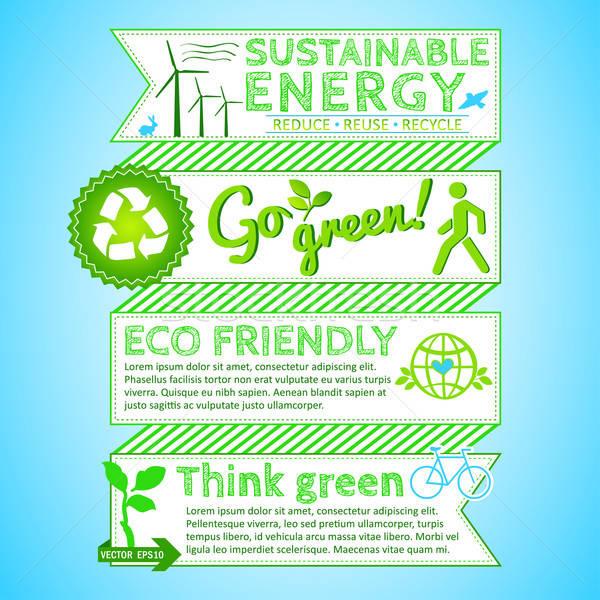 Go green poster Stock photo © alevtina