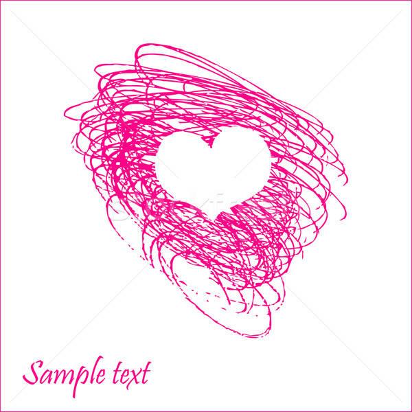 болван сердце карт рисованной вектора изображение Сток-фото © alevtina