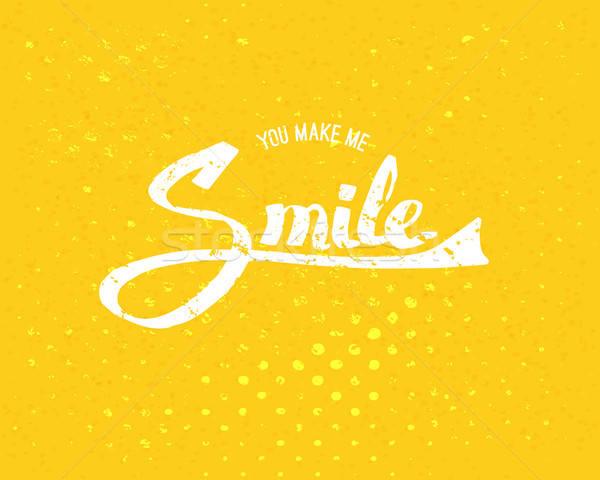 私に 笑顔 黄色 単純な 白 ストックフォト © alevtina