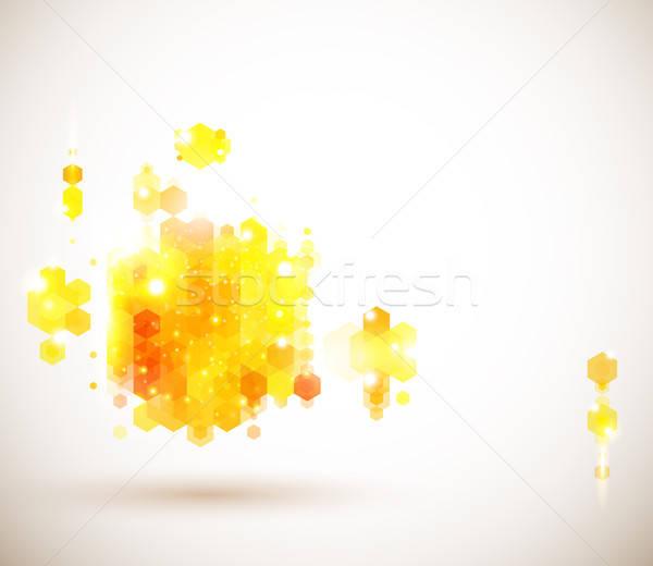 Lumineuses ensoleillée page layout présentation géométrique Photo stock © alevtina