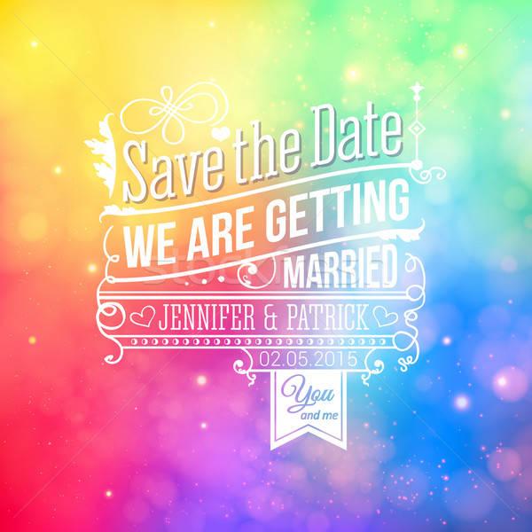 保存 日付 個人 休日 結婚式招待状 ベクトル ストックフォト © alevtina