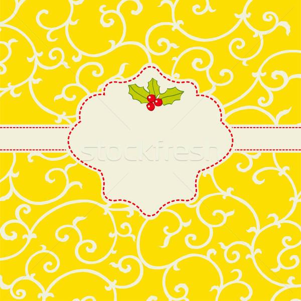 Stockfoto: Vrolijk · kaart · abstract · christmas · maretak · vector