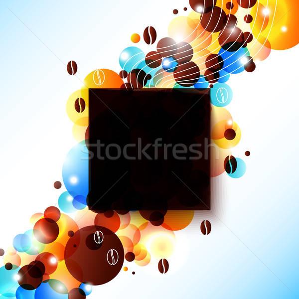 Fényes kávé fellobbanás hatás szép hirdetés Stock fotó © alevtina