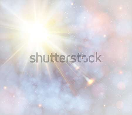 Winter shining sun with lens flare. Stock photo © alevtina