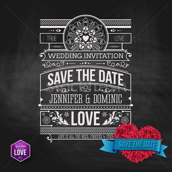 Artistic Save the Date Template Design Stock photo © alevtina