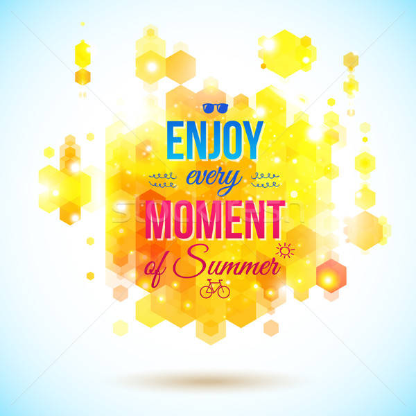 Enjoy every moment of Summer. Positive and bright poster. Stock photo © alevtina