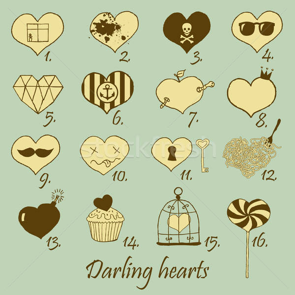 Stock photo: Darling hearts