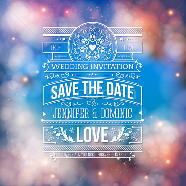 Wedding Concept - Save the Date Artistic Design Stock photo © alevtina