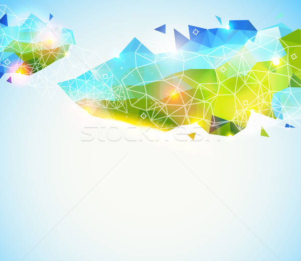 Colorato lucido disegno geometrico abstract pagina layout Foto d'archivio © alevtina