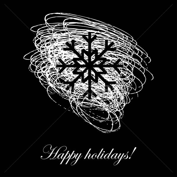 счастливым праздников карт праздник снежинка Сток-фото © alevtina