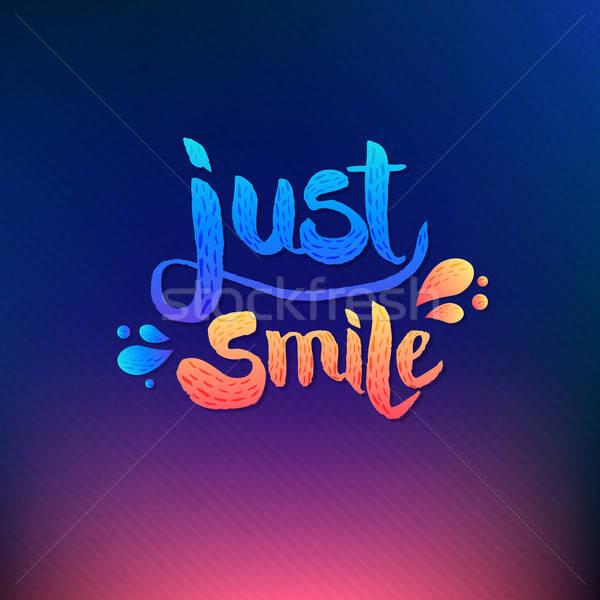 Sourire simple résumé heureux carte Photo stock © alevtina