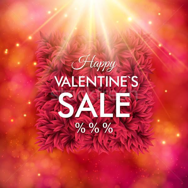 Dynamic Happy Valentines Sale design Stock photo © alevtina