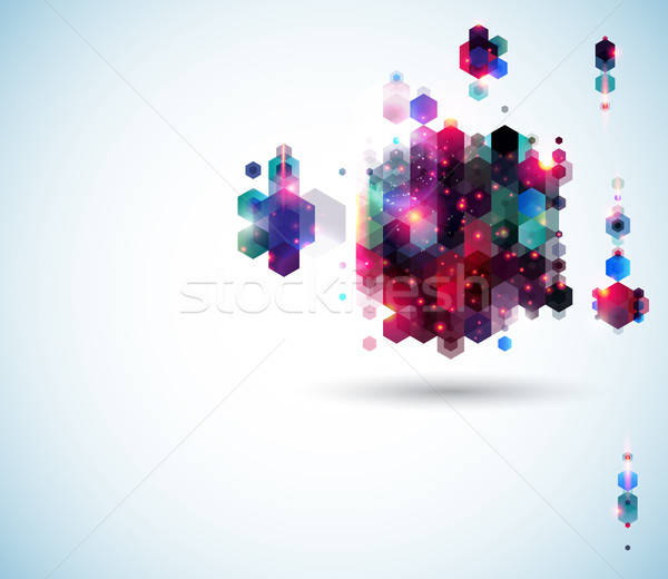 аннотация страница макет презентация геометрический Сток-фото © alevtina