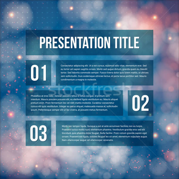 Template for Your business presentation. Blurred background. Vec Stock photo © alevtina