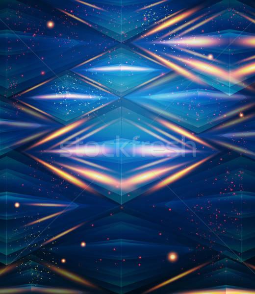 Abstract zeshoek patroon Blauw textuur Stockfoto © alevtina