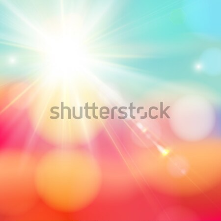 Bright shining sun with lens flare. Stock photo © alevtina