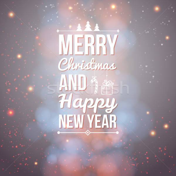 Merry Christmas and Happy new year card. Stock photo © alevtina