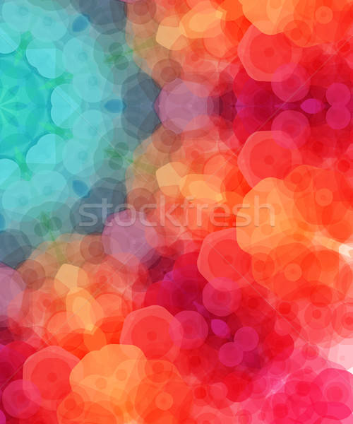 Retro pattern made of hexagonal shapes. Mosaic background. Vecto Stock photo © alevtina