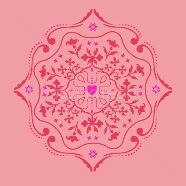 Cercle ornement sweet coeur vecteur image Photo stock © alevtina