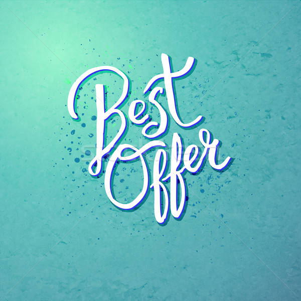 Best Offer Concept on Blue Green Background Stock photo © alevtina