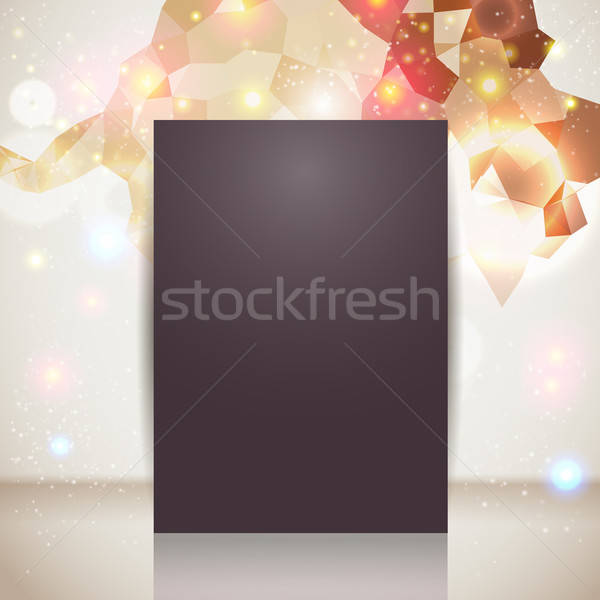 Bright and sparkling page layout with place for your text. Stock photo © alevtina
