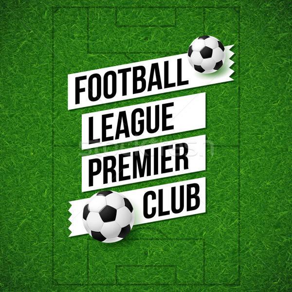 Foto stock: Futebol · futebol · cartaz · campo · de · futebol · bola · grama