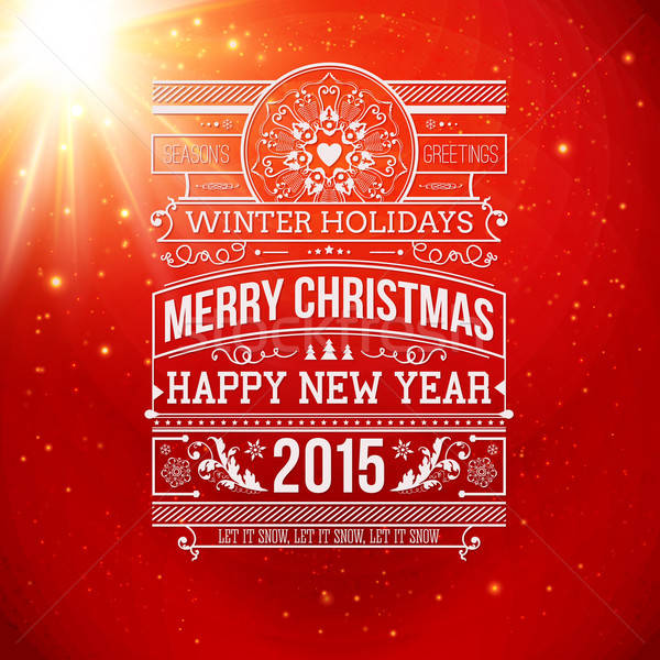 Christmas typografie winter vakantie ontwerp vector Stockfoto © alevtina