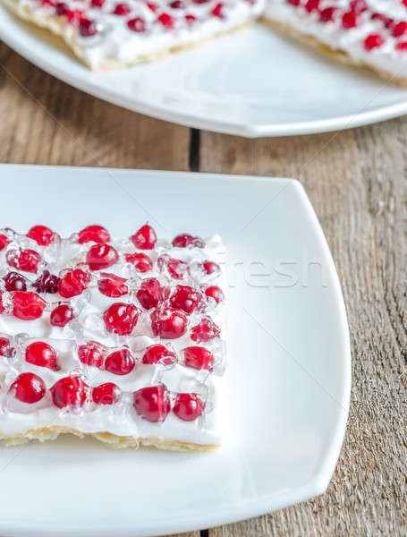 Tart with whipped cream and fresh cranberries Stock photo © Alex9500