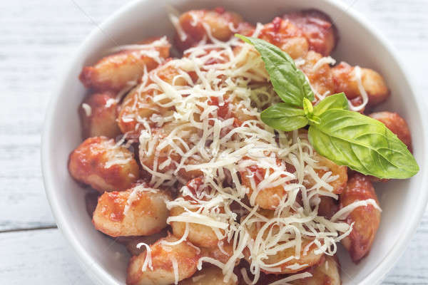 Potato gnocchi with tomato sauce Stock photo © Alex9500