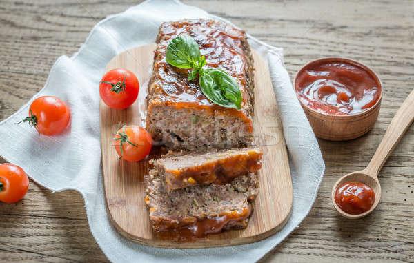 Carne pagnotta salsa barbecue alimentare foglia Foto d'archivio © Alex9500