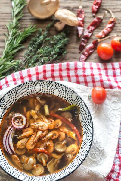 Puchar tajska yum zupa trawy Zdjęcia stock © Alex9500