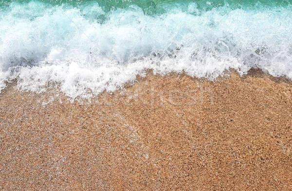 Ocean wave on sandy beach Stock photo © Alex9500