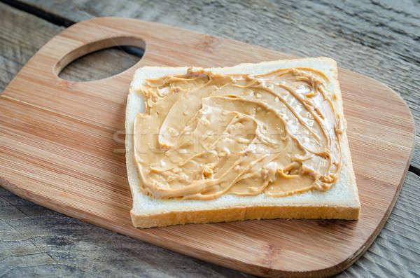 Sanduíche manteiga de amendoim pão café da manhã gordura Foto stock © Alex9500