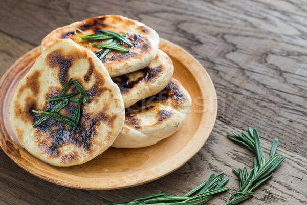 Grillezett rozmaring étel asztal kenyér búza Stock fotó © Alex9500