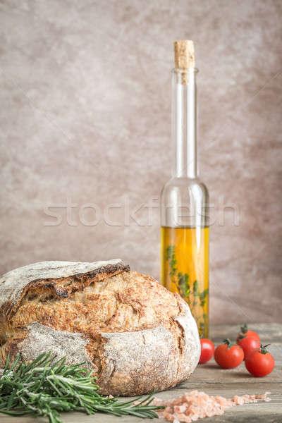 ローフ パン チェリートマト 新鮮な ローズマリー 緑 ストックフォト © Alex9500
