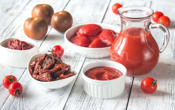 Assortment of products made of tomatoes Stock photo © Alex9500