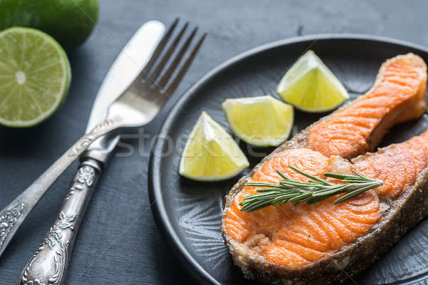 Roasted trout steak with fresh rosemary Stock photo © Alex9500