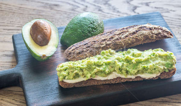 Sandwich with smashed avocado Stock photo © Alex9500