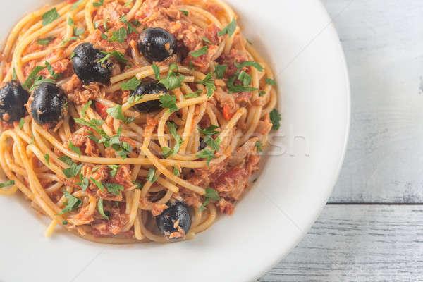 черные спагетти с красной рыбой раствор можно
