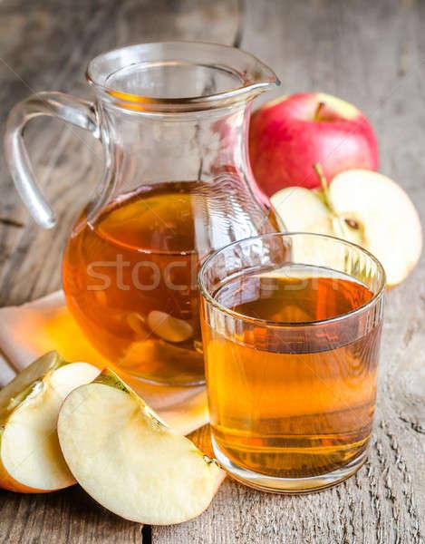 リンゴジュース リンゴ クロス 庭園 背景 緑 ストックフォト © Alex9500