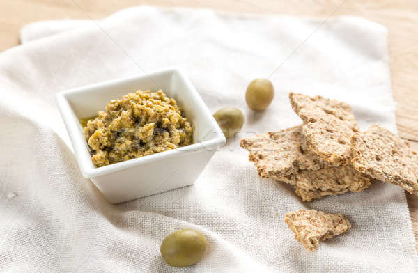 Wholegrain crackers with olive tapenade Stock photo © Alex9500